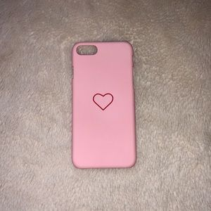 Accessories - iPhone 5 Pink Heart Phone Case